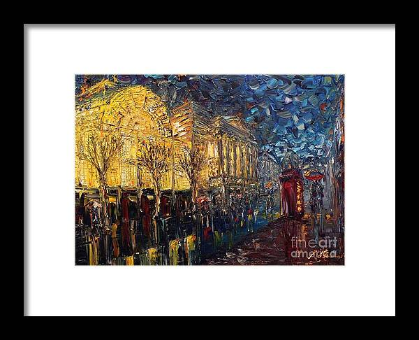 Landscape Framed Print featuring the painting Paris by Vishal Lakhani