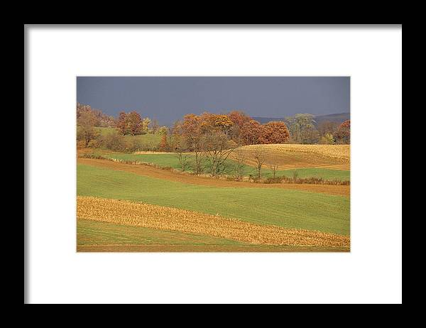 North America Framed Print featuring the photograph Pastoral View Of Rolling Fields by Raymond Gehman