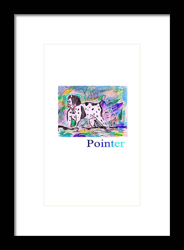 Dog Posters Framed Print featuring the painting Pointer by Samuel Zylstra