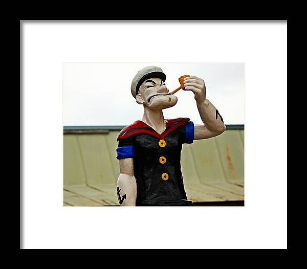 Texas Framed Print featuring the photograph Popeye In Crystal City by Monica Wheelus