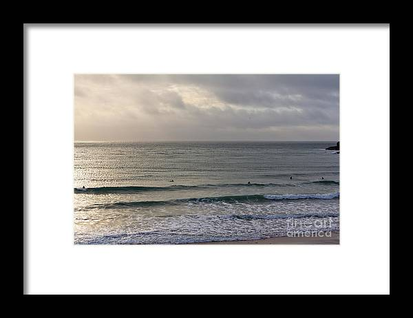 Praa Sands Cornwall Framed Print featuring the photograph Praa Sands by Brian Roscorla