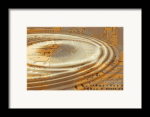 Printed Framed Print featuring the digital art Printed Circuit by Michal Boubin