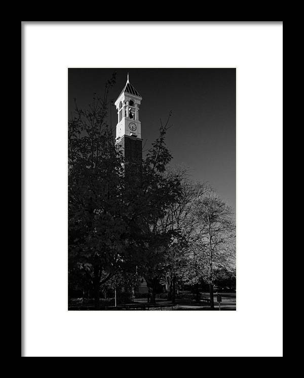 Purdue Framed Print featuring the photograph Purdue Bell Tower by Coby Cooper