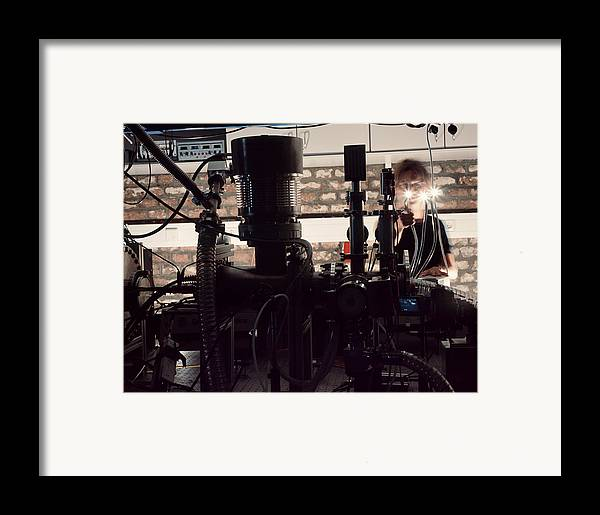 Physics Framed Print featuring the photograph Quantum Entanglement Equipment by Volker Steger