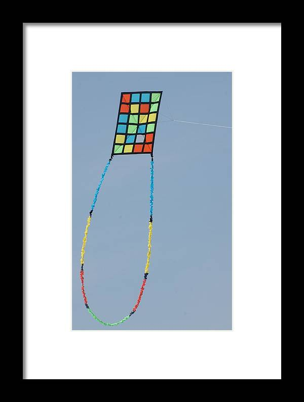 Kite Framed Print featuring the photograph Quilt Kite by Tina McKay-Brown