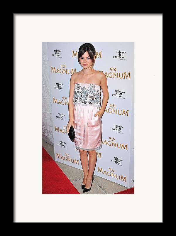 Rachel Bilson Framed Print featuring the photograph Rachel Bilson Wearing A Chanel Couture by Everett