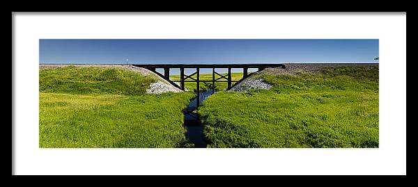 Americas Framed Print featuring the photograph Railroad Trestle by Roderick Bley