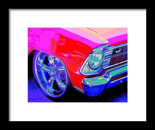 Chevy Nova Framed Print featuring the photograph Real Red Nova Ss by Chuck Re