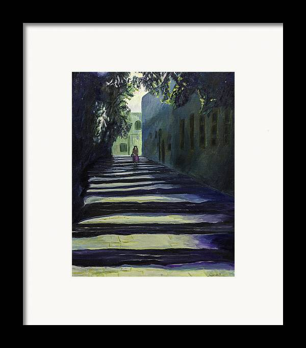 Fine Art Framed Print featuring the painting Reflection by Iris Gill