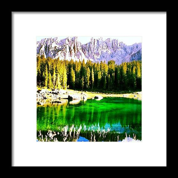 Alps Framed Print featuring the photograph Reflection by Luisa Azzolini