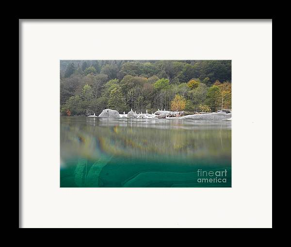 Under The Water Framed Print featuring the photograph River With Trees by Mats Silvan