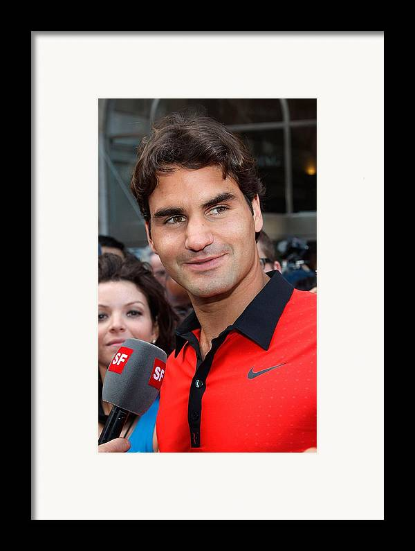 Roger Federer Framed Print featuring the photograph Roger Federer At A Public Appearance by Everett