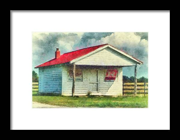Watercolor Framed Print featuring the painting Royster Fertilizers by Lynne Jenkins