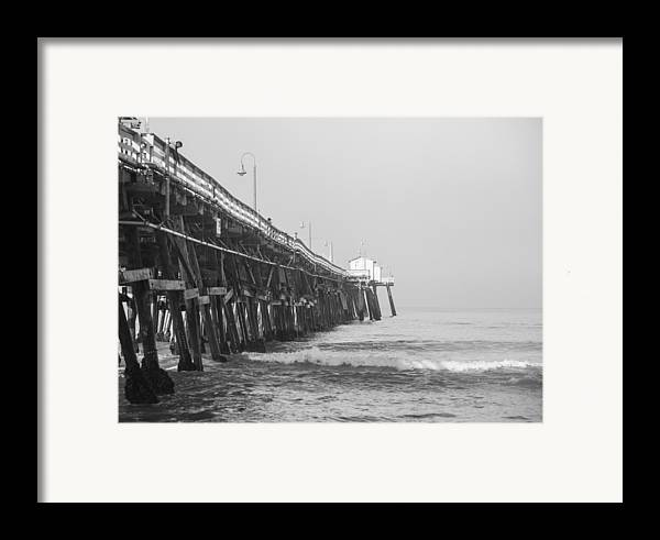 San Clemente Framed Print featuring the photograph San Clemente Pier by Ralf Kaiser