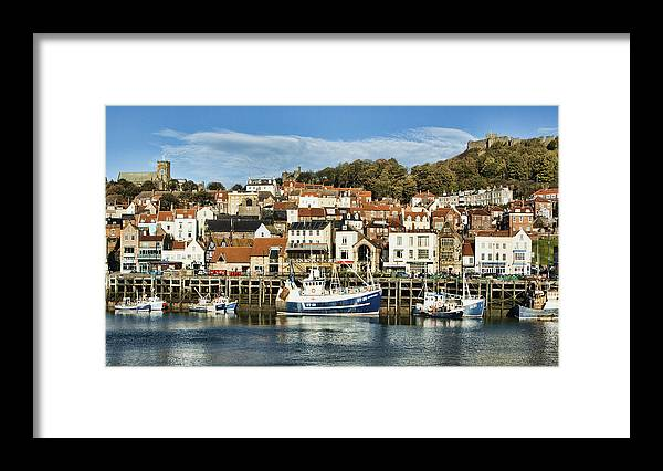 Yorkshire Canvas Framed Print featuring the photograph Scarborough Harbour by Trevor Kersley