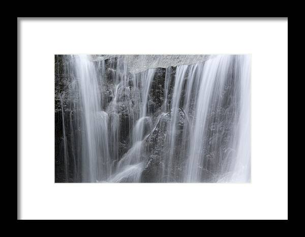 Scenic Views Framed Print featuring the photograph Scenic Waterfall In Borneo Rain Forest by Tim Laman
