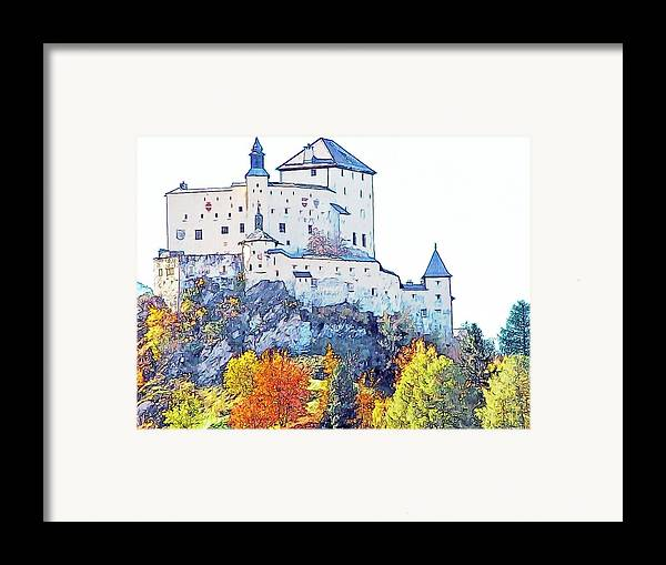 Europe Framed Print featuring the photograph Schloss Tarasp Switzerland by Joseph Hendrix