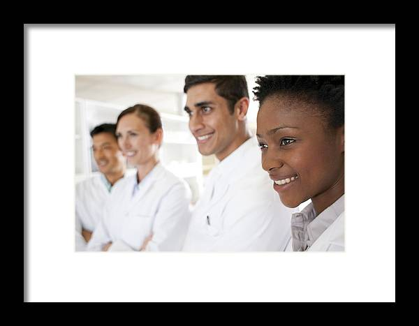 Close Up Framed Print featuring the photograph Scientists by