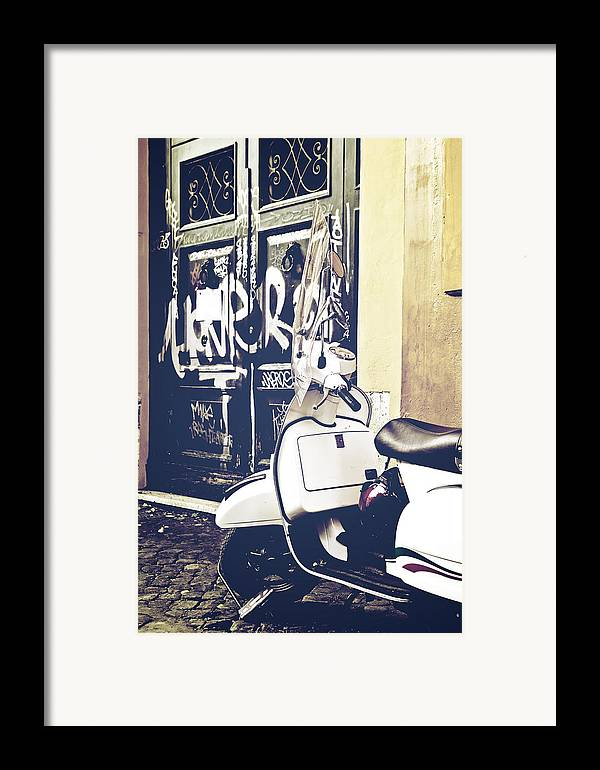 Rome Framed Print featuring the photograph Scooter by Joana Kruse