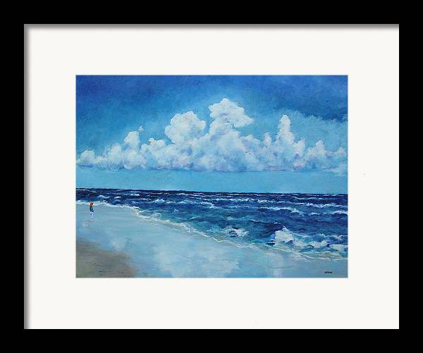 Clouds Framed Print featuring the painting Sea And Sky by Robert Henne