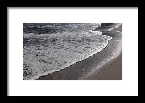 Wave Framed Print featuring the photograph Shore by Jessica Cruz