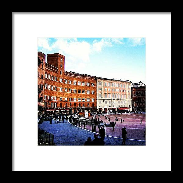 City Framed Print featuring the photograph Siena by Luisa Azzolini