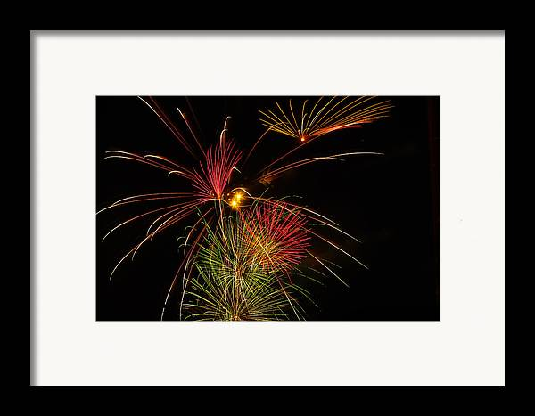 4th Of July Framed Print featuring the photograph Sky Flowers by Joshua Dwyer