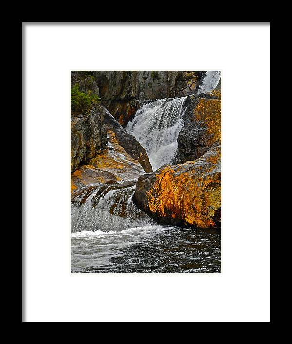 Landscape Framed Print featuring the photograph Smalls Falls 11 by George Ramos