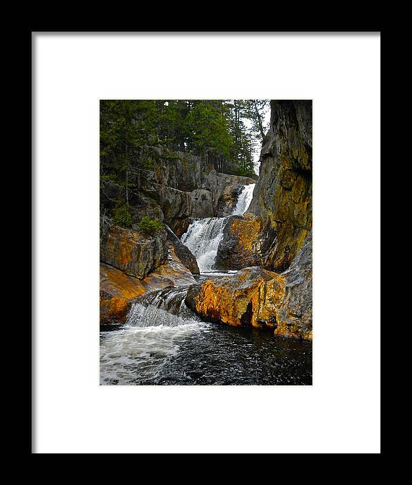 Landscape Framed Print featuring the photograph Smalls Falls 5 by George Ramos