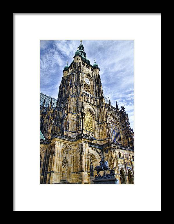 St Vitus Cathedral Framed Print featuring the photograph St Vitus Cathedral - Prague by Jon Berghoff