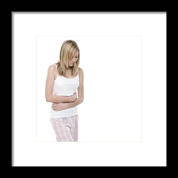 12-13 Years Framed Print featuring the photograph Stomach Pain by