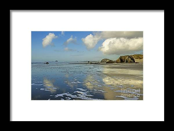 Clouds Framed Print featuring the photograph Summertime Blues by Rachelle Crockett