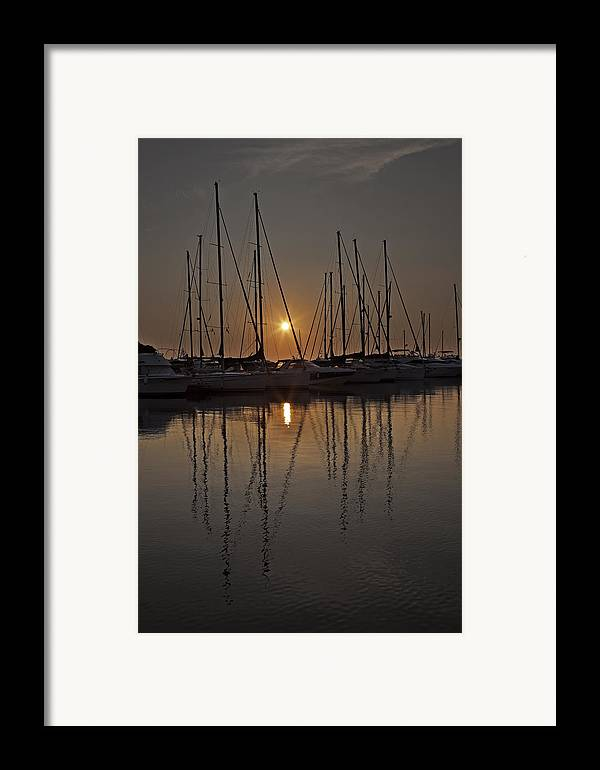 Boats Framed Print featuring the photograph Sunset by Joana Kruse