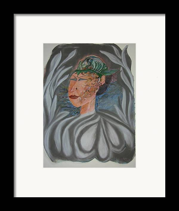 Pastel Framed Print featuring the painting Tattoo You by Marian Hebert