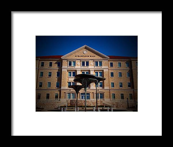 Tcu Framed Print featuring the photograph Tcu Scharbauer Hall by Judge Howell