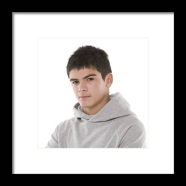 16-17 Years Framed Print featuring the photograph Teenage Boy by
