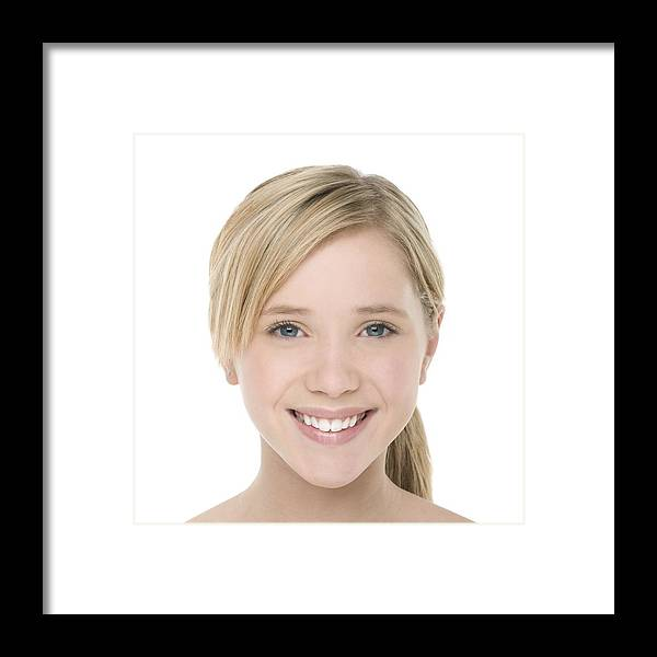 12-13 Years Framed Print featuring the photograph Teenage Girl by