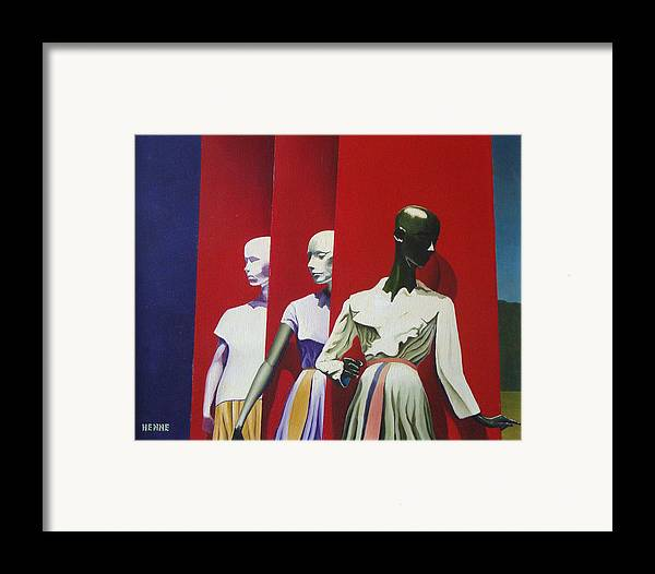 Manikins Framed Print featuring the painting The Awakening by Robert Henne