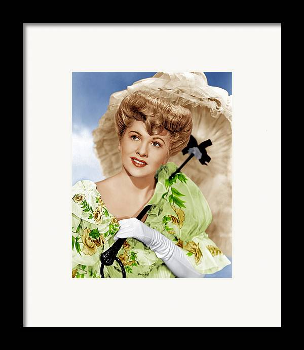 1940s Portraits Framed Print featuring the photograph The Emperor Waltz, Joan Fontaine, 1948 by Everett