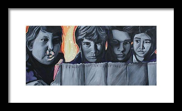 Framed Print featuring the painting The Goonies by Kate Fortin