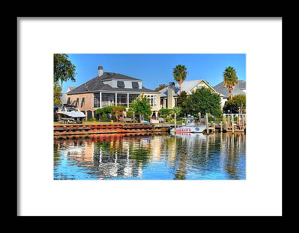 Live Life's Adventures Framed Print featuring the digital art The Law by Barry R Jones Jr