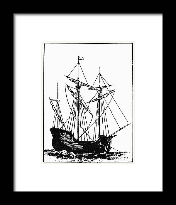17th Century Framed Print featuring the photograph The Mayflower by Granger