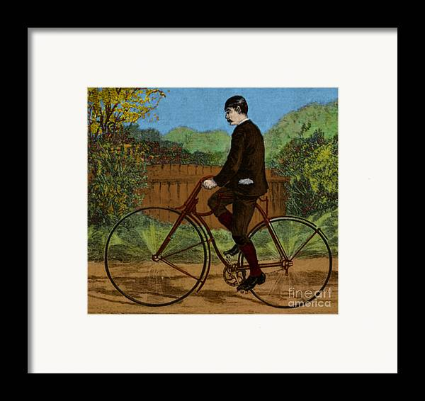 Rover Bicycle Framed Print featuring the photograph The Rover Bicycle by Science Source