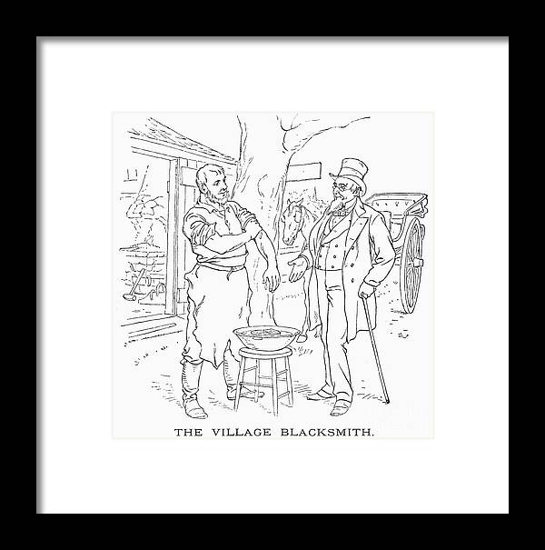 1887 Framed Print featuring the photograph The Village Blacksmith by Granger