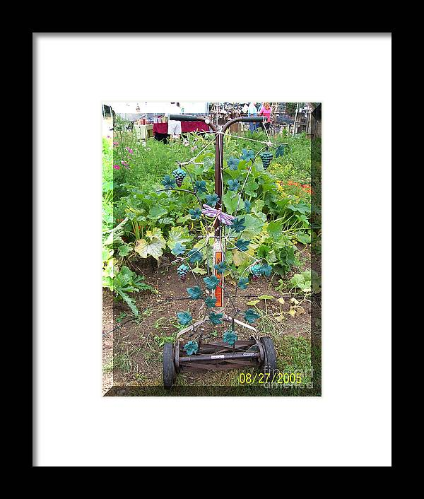 Garden Framed Print featuring the sculpture The Vinyard by JP Giarde