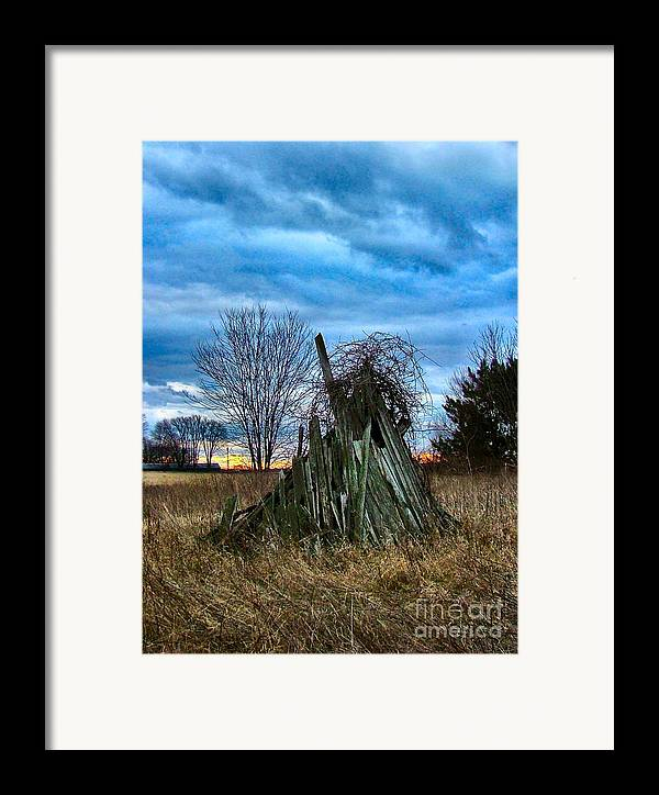 Woodstacks Framed Print featuring the photograph The Woodstack by Julie Dant