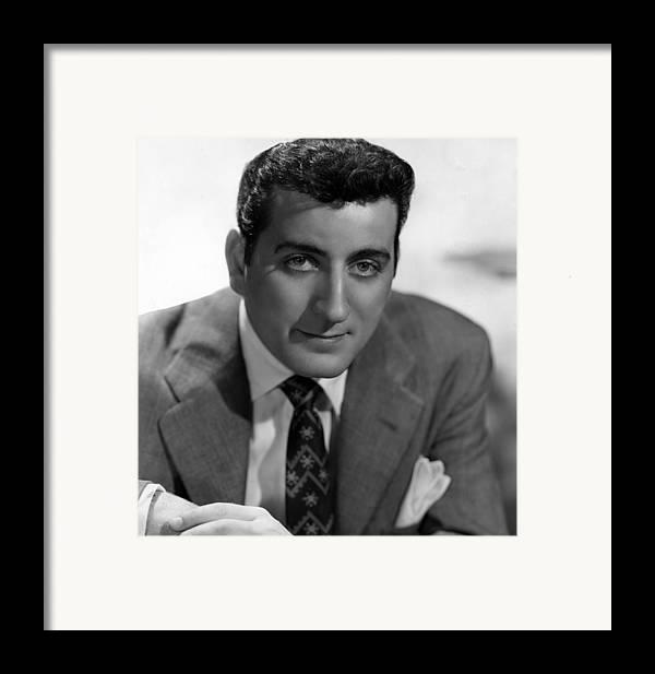1950s Portraits Framed Print featuring the photograph Tony Bennett, C. 1952 by Everett