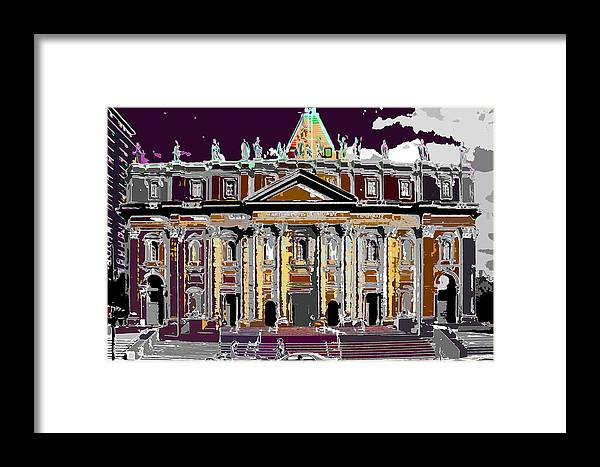 Church Framed Print featuring the photograph Tourist Magnet by Burney Lieberman