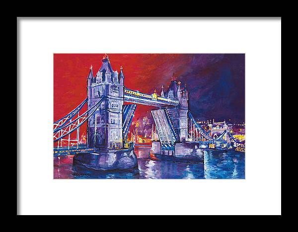 High Quality Giclee Print. Limited Edition Framed Print featuring the painting Tower Bridge London by Patricia Clements