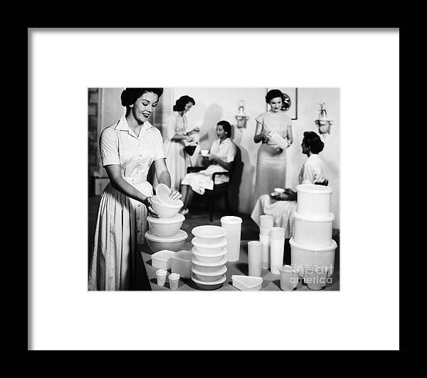 1950s Framed Print featuring the photograph TUPPERWARE PARTY, 1950s by Granger
